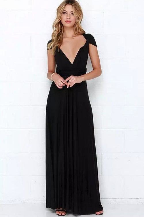 Multi Way to Wear Backless Maxi Dress