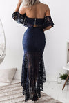 Off Shoulder Lace High/Low Suit