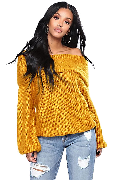Off Shoulder Oversized Sweater