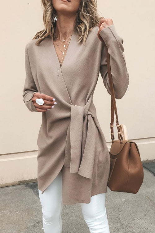 Warm Your Heart Tie Coat