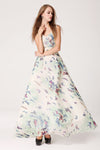 White Boho Butterfly Maxi Dress