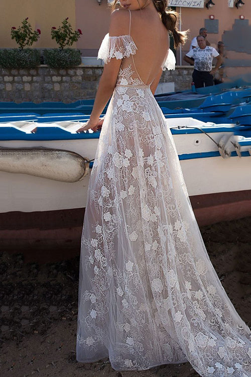 Flynn White See-Through Maxi Dress