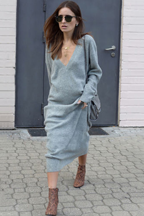 Always On the Way V-Neck Maxi Dress