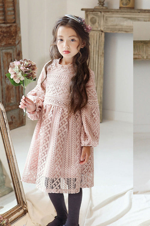 Beige Princess Lace Dress