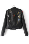 Black Embroidered  Biker