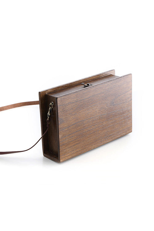 """Book"" Wooden Shoulder Bag"