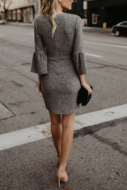Hello World Grey Mini Dress