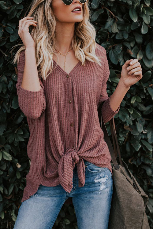 Daily Delight Button Tie Top