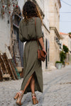 Casual Side Slit Maxi Dress