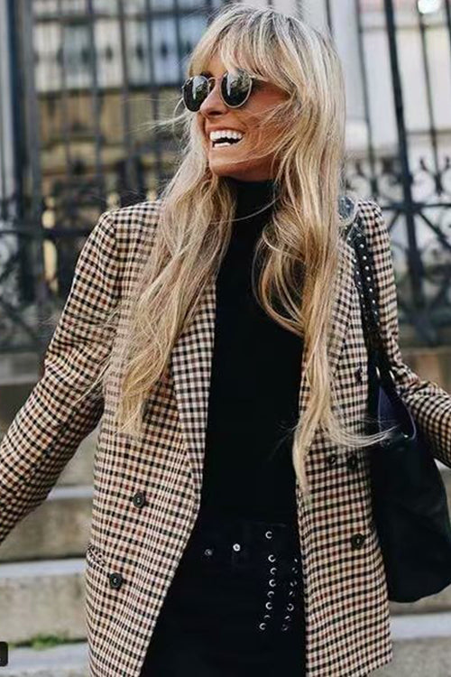 Chic City Houndstooth Blazer