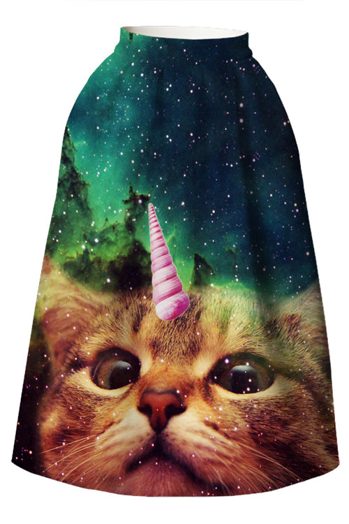 Cute Cat Art  Skirt
