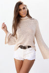 Long Sleeve Tie Back Sweater