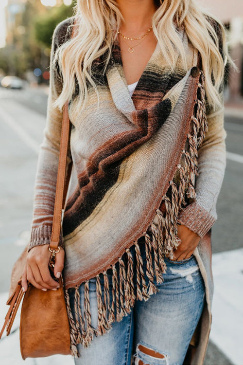 City Chic Boho Stripe Top