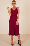 Sleeveless Tie Waist Midi Dress