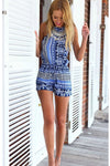 National Print Halter Jumpsuit