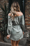 Still Together Off Shoulder Tie Dress