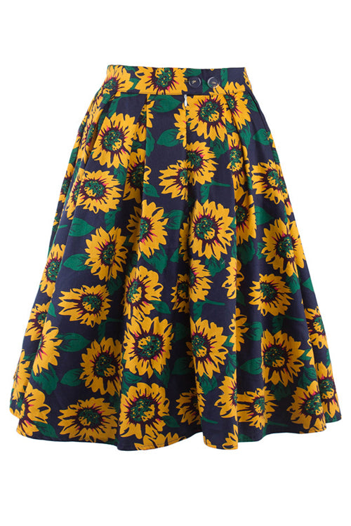 Sunflower Ruffle Full Skirt