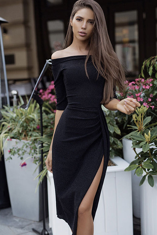Always Stunning High Side Slit Midi Dress