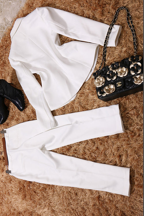 High End White Suit