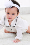White Long Sleeve Babygrows