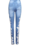 Applique Spliced Jeans