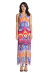 Flame Print Tassels Tank Dress