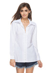 Button Overturned Collar Casual Shirt