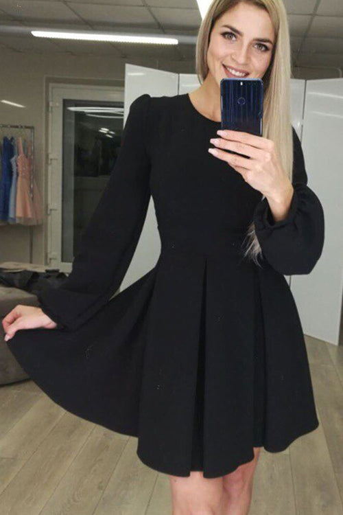 Part Of Me Long Sleeve Skater Dress