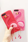 Flamingo Leather IPhone Case