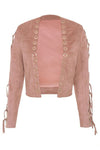 Pink Grommet Short Coat