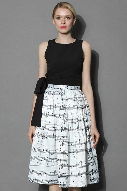 White Melody Casual Skirt