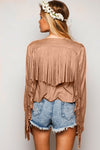 Fringe Embellished Coat