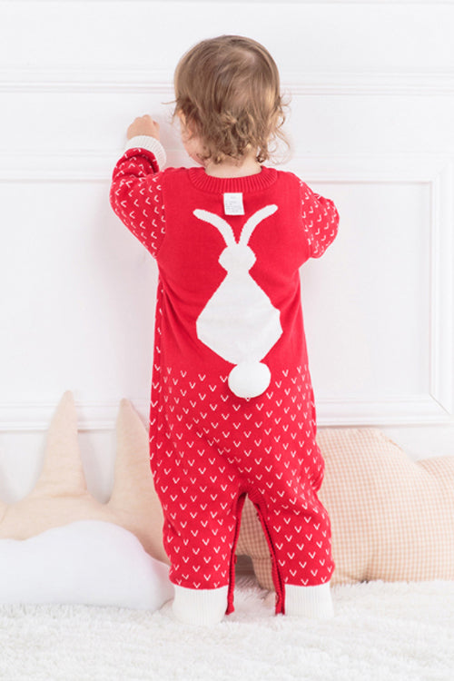 Christmas Pure Color Baby Romper