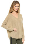 Brown Oversized Batwing Sleeve Sweater