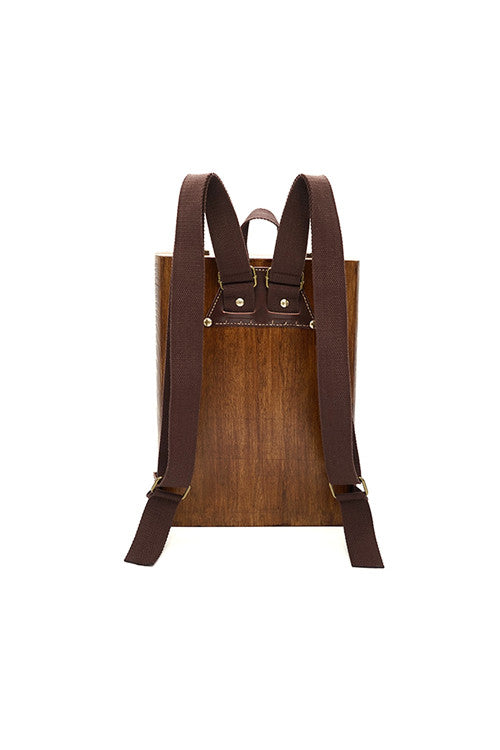 Wooden Notebook Backpack