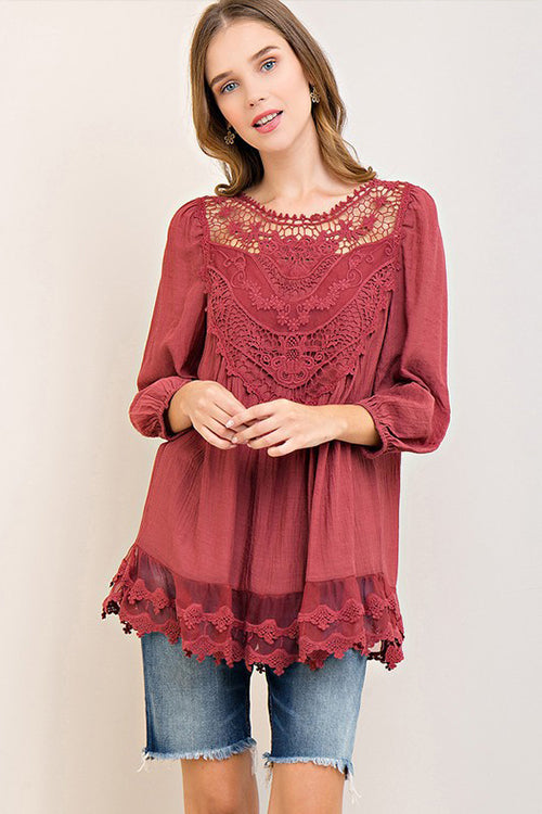 Ticket To Cozy Lace Top