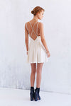 Sparkle Fade Strappy Chiffon Skater Dress