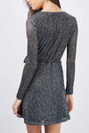 Night Date Sparking Tie Dress