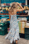 Boho Sleeveless Print Maxi Dress