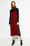 Spaghetti Red Tartan Dress