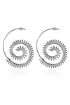Metallic Gear Earrings