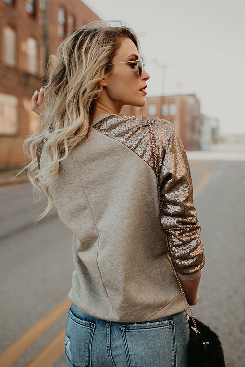 Cozy Delight Sequin Blouse