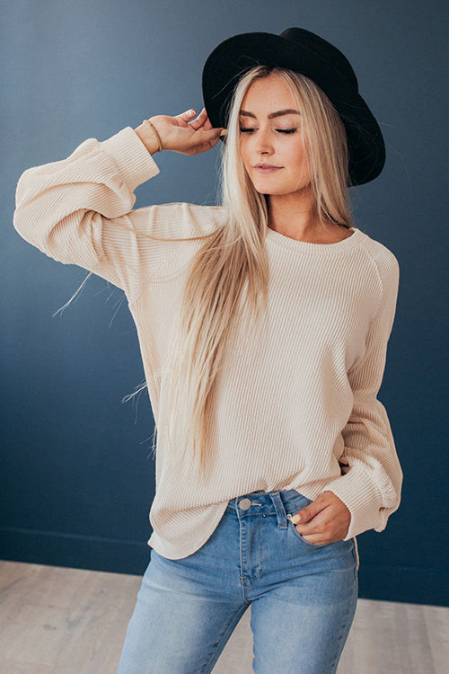 Cozy Delight Puff Sleeve Sweater
