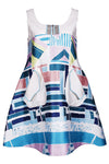 Print Pocket A-line Dress