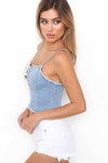 Denim Bandage Corp Top