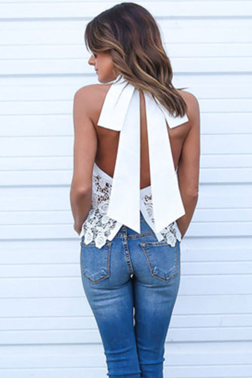 Lovely Vibes Bowknot Lace Top