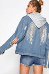 Bell Sleeve Denim Coat