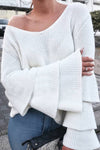 Time To Sweetness Bell Sleeve Sweater