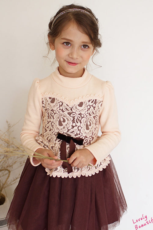 Brown Girl Knot Lace Dress