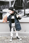 Denim Detachable Cap Baby Jacket